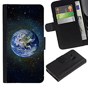 LASTONE PHONE CASE / Lujo Billetera de Cuero Caso del tirón Titular de la tarjeta Flip Carcasa Funda para Samsung Galaxy S3 MINI NOT REGULAR! I8190 I8190N / Space Planet Galaxy Stars 59