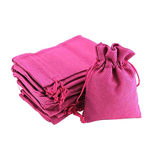 Transser 50PC Linen Gift Sachets Favors Pouches Party Wedding Christmas Gifts Jewelry Craft Sacks Burlap Bags