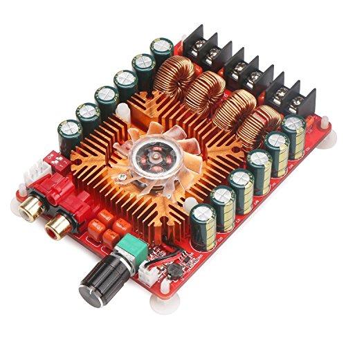 WINGONEER TDA7498E 2x160W Dual Channel Audio Amplifier Board, Support BTL Mode 1X220W Single Channel, DC 24V Digital Stereo Power Amp Module for Car Vehicle Computer Speaker DIY
