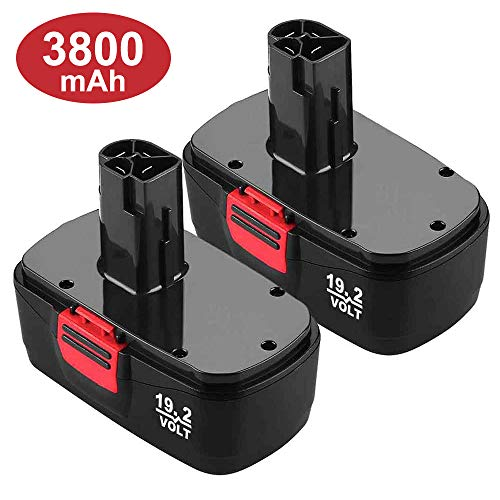 Upgraded 3800mAh C3 Battery Replace for Craftsman 19.2 Volt Battery 315.115410 315.11485 130279005 1323903 120235021 11375 11376 Cordless Drills 2 Packs