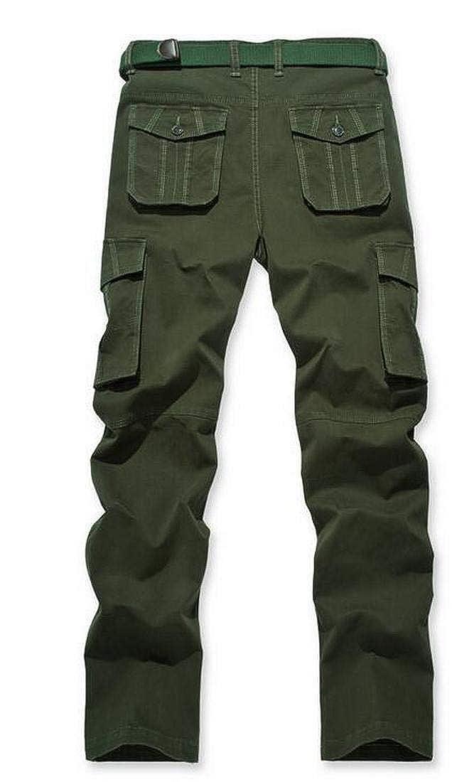 JXG Men Vogue High Waist Multi Pocket Cargo Sweatpant Pants