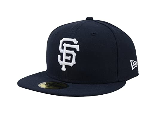 buy popular dc5cc c24c0 New Era 59Fifty Hat MLB San Francisco Giants Navy Blue Fitted Baseball  Basic Cap (6