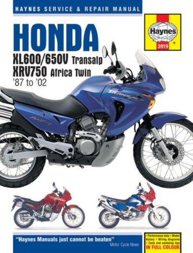 - Honda XL600/650V Transalp, XRV750 Africa Twin '87 to '02 (Haynes Service & Repair Manual)