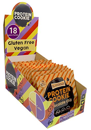 Vegan/GF Alpendough Chocolate Chip Protein Cookie - 15 Pack