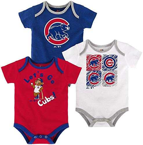 c88112b87 Chicago Cubs Creeper Set 3 Piece Go Team (12 Months). By OuterStuff