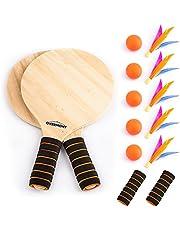 OVERMONT Spelset Racket strandbal badminton shuttle bal en familie training kantoor outdoor sport