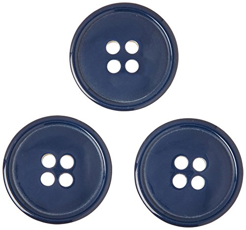Blumenthal Lansing Slimline Buttons Series 1, Navy 4-Hole 3/4 3/Pkg