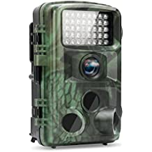 TEC.BEAN Trail Camera 12MP 1080P Game Hunting Camera With 120 Degree Wide-Angle Plus 42PCS 940NM Infrared LEDs Night Vision Up To 75 Feet IP66 Waterproof Protected Design