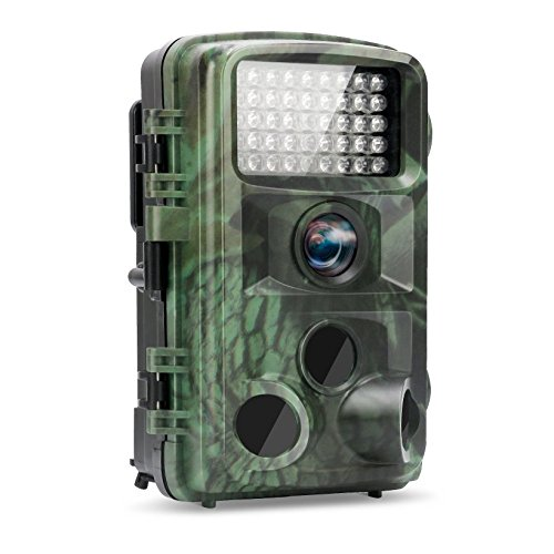 TEC.BEAN Trail Camera 12MP 1080P HD 2.4 Inch LCD Screen Full HD Game Hunting Camera with 120 Degree Wide Angle Plus…