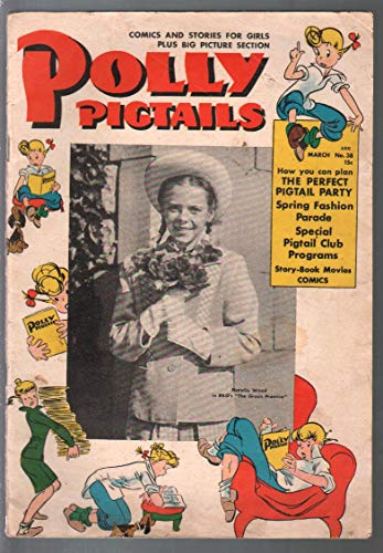 (Polly Pigtails #38 1949-Natalie Wood photo cover-Dean Stockwell-G/VG)