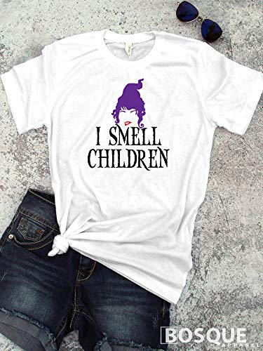 Hocus Pocus - In Color - I smell children Halloween inspired shirt - Ink Printed T-Shirt