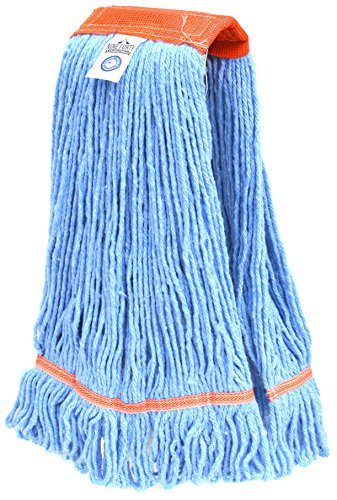 Nine Forty USA Floor Cleaning Wet Mop Head Refill | Replacement - Janitorial Heavy Duty Industrial | Commercial Yarn (1 Pack, - Mop Head Synthetic