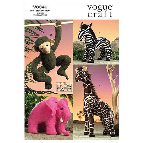 Vogue Patterns V8349 Stuffed Animals, One (Uncut Vogue Sewing Pattern)