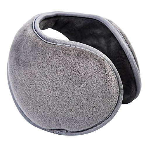 Unisex de Outdoor Fleece Classic ZZM Accesorio invierno Ear EarMuffs Earmuffs Warmer Gris nFxZ7WE