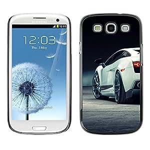 Coche Lambo Sexy Galardo - Metal de aluminio y de plástico duro Caja del teléfono - Negro - Samsung Galaxy S3