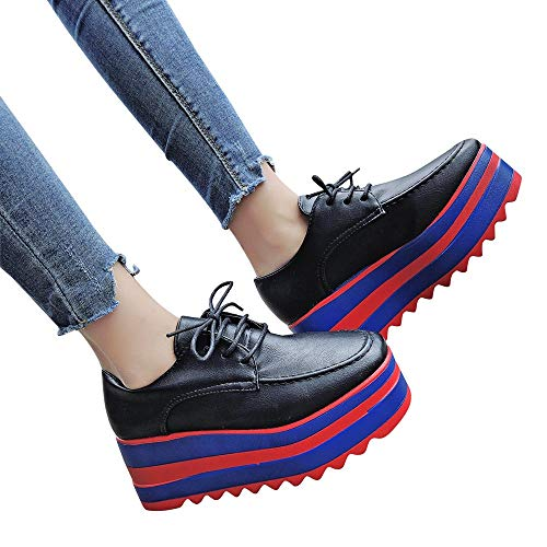 Amazon.com: Shoes Clearance Sale!! FarJing Fashion Women Increase High-Sole Single Shoes Students Lace Up Casual Shoes: Clothing