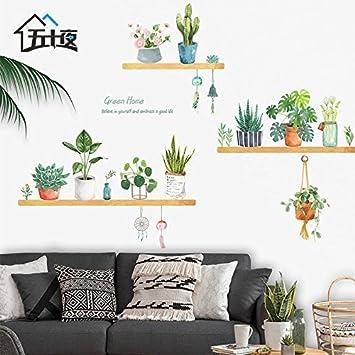 Wunderbar ALLDOLWEGE Der Blumentopf Aufkleber Wand Aufkleber Selbstklebende Kreative  Schlafzimmer Kleine Frische Dekoration Sofa Restaurant Warm Hintergrund