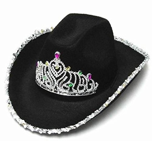 1-new-girls-western-black-cowboy-hat-with-crown-tirra-hats-womens-cap-ht146