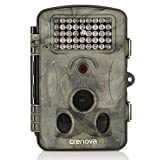 Crenova Game and Trail Hunting Camera 12MP 1080P HD With Time Lapse 65ft 120° Wide Angle Infrared Night Vision 42pcs IR LEDs 2.4'' LCD Screen Scouting Camera Digital Surveillance Camera