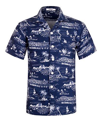 4802fd6d0 Men's Hawaiian Shirt Short Sleeve Aloha Shirt Beach Party Flower Shirt  Holiday Print Casual Shirts L1