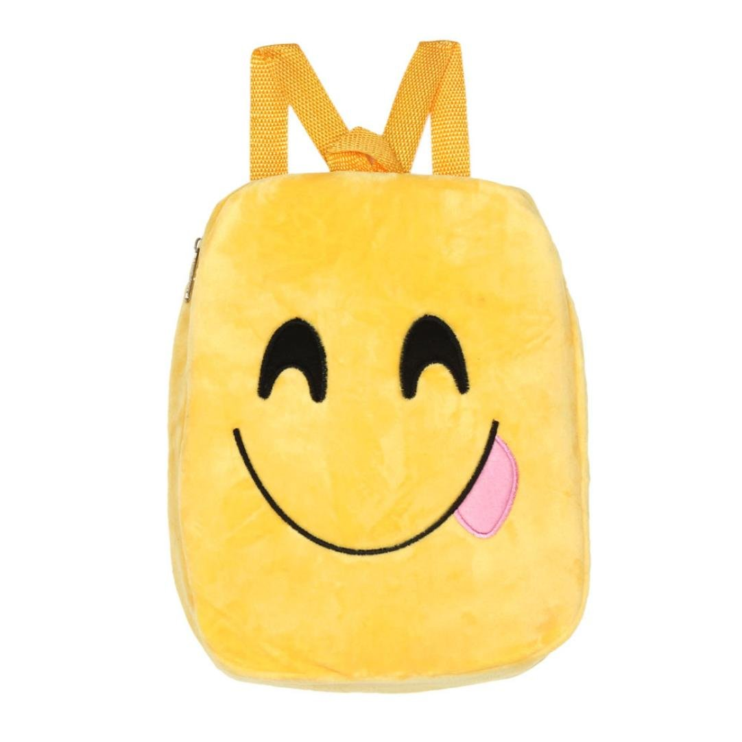 Emoji Party Favor Bags for Kids Birthday - Emoji Backpack Bags Goodie Bags for Kids Birthday Party Supplies For Girls and Boys (A)