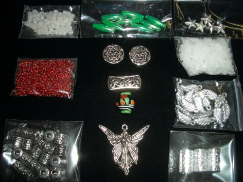 Glass Beads Focal Metal Art (Christmas Angel Beaded Jewelry Bead Kit with Mini Lampwork Ornament Focal)