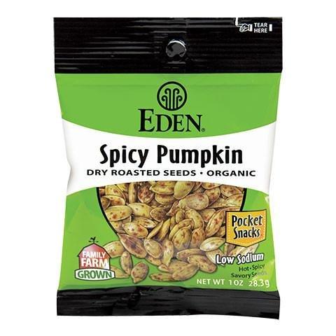 Eden Organic Spicy Pumpkin Seeds Dry Roasted, 1 OZ (Pack - - Pumpkin Seeds Eden Roasted