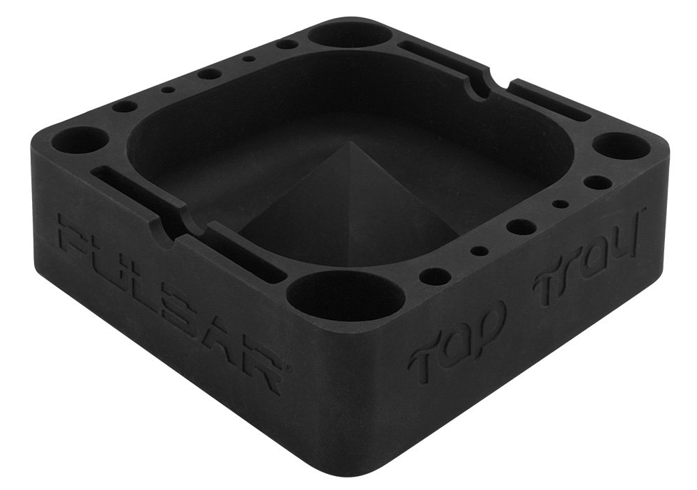 Pulsar Tap Tray Silicone Ashtray - Black Pulsar Vaporizers