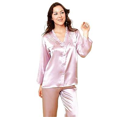0d318009bd Sleepwear Forever Angel Women s Pure Silk Pajamas Luxury PJs Gift - Purple  - Small