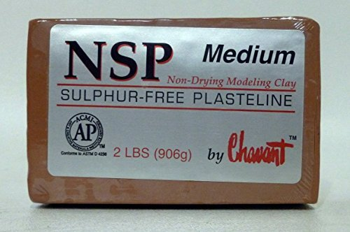 - Chavant NSP MEDIUM - 2 Lbs. Professional Oil Based Sulfur Free Sculpting Clay- Brown