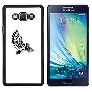 EJOOY---Cubierta de la caja de protección para la piel dura ** Samsung Galaxy A7 A7000 ** --plumas indias Paraplane pájaro blanco