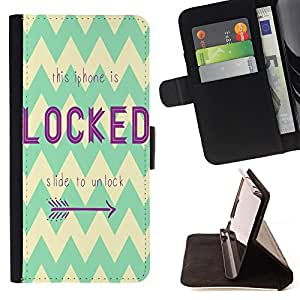 King Art - Premium-PU-Leder-Prima caja de la PU billetera de cuero con ranuras para tarjetas, efectivo Compartimiento desmontable y correa para la mu?eca FOR Samsung Galaxy Note 4 SM-N910 N910 IV- Locked