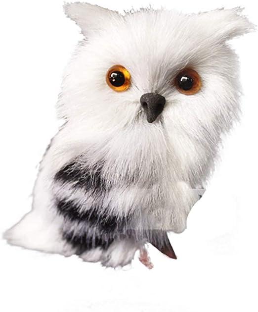 Romote Felpa Nieve búho Juguete simulación búho Animal Juguete ...