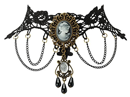The Paragon Victorian Cameo Lace Necklace - Gothic Choker Collar