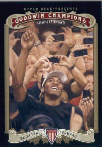 Upper Deck Rookie Basketball Card - 2012 Upper Deck Goodwin Champions Basketball Rookie Card (2012) #120 Kawhi Leonard