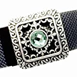Fitband Bling Fitness Band Accessory ''Bella Green'' for Fitbit Flex; Alta; Charge; Charge HR; Charge 2; Jawbone UP2; UP3; Garmin vivosmart; vivosmart HR
