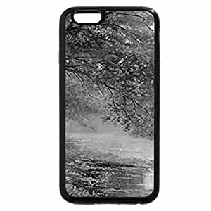 iPhone 6S Case, iPhone 6 Case (Black & White) - Autumn on Lake - Painting