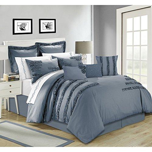 Safdie & Co. Collection Bianca 7 Piece Comforter Set, King