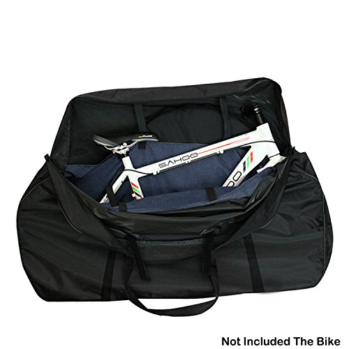 Topnaca Soft Mountain Bike Travel Case Transport Bag Bicycle Carrying Case with Fork Protector (Bicycle Case Carrying)