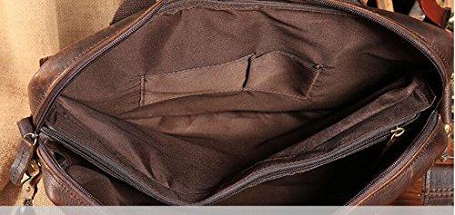 DJB/ Portfolio Mode portable Umhängetasche aus Leder Männer ein Messenger
