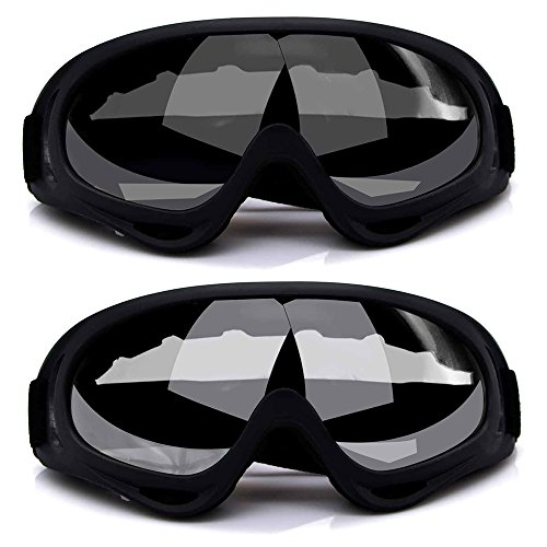 Freehawk Ski Goggles, 2Pcs Snowboarding Goggles Skate Glasses Anti-wind Ski Glasses Motorcycle Goggles Riding Goggles Eyewear for Adult Skiing, Skating, Motorcycling and Riding - Skiing Eyewear