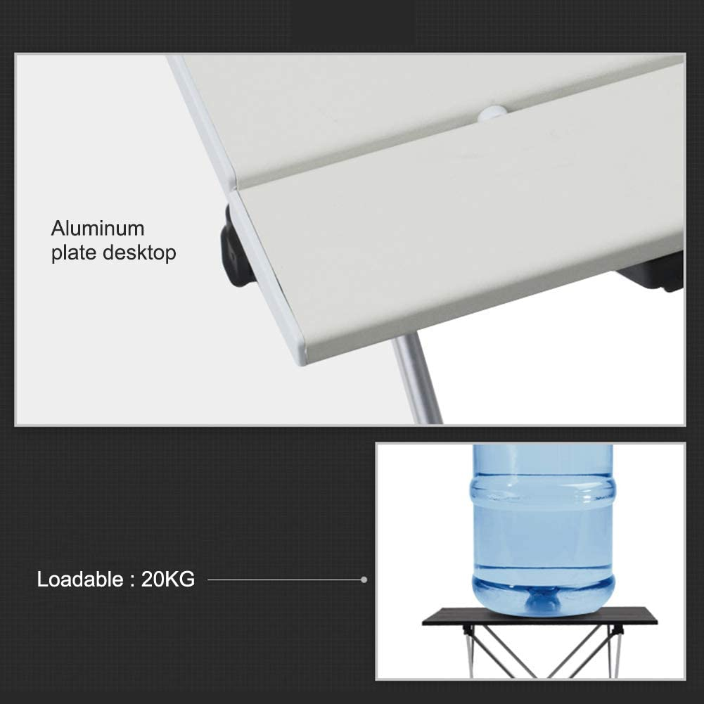les cours table de pique-nique salle /à manger pour la plage l/ég/ère et portable en aluminium les f/êtes S Argent/é. les voyages VSTAR66 Table de barbecue pliable