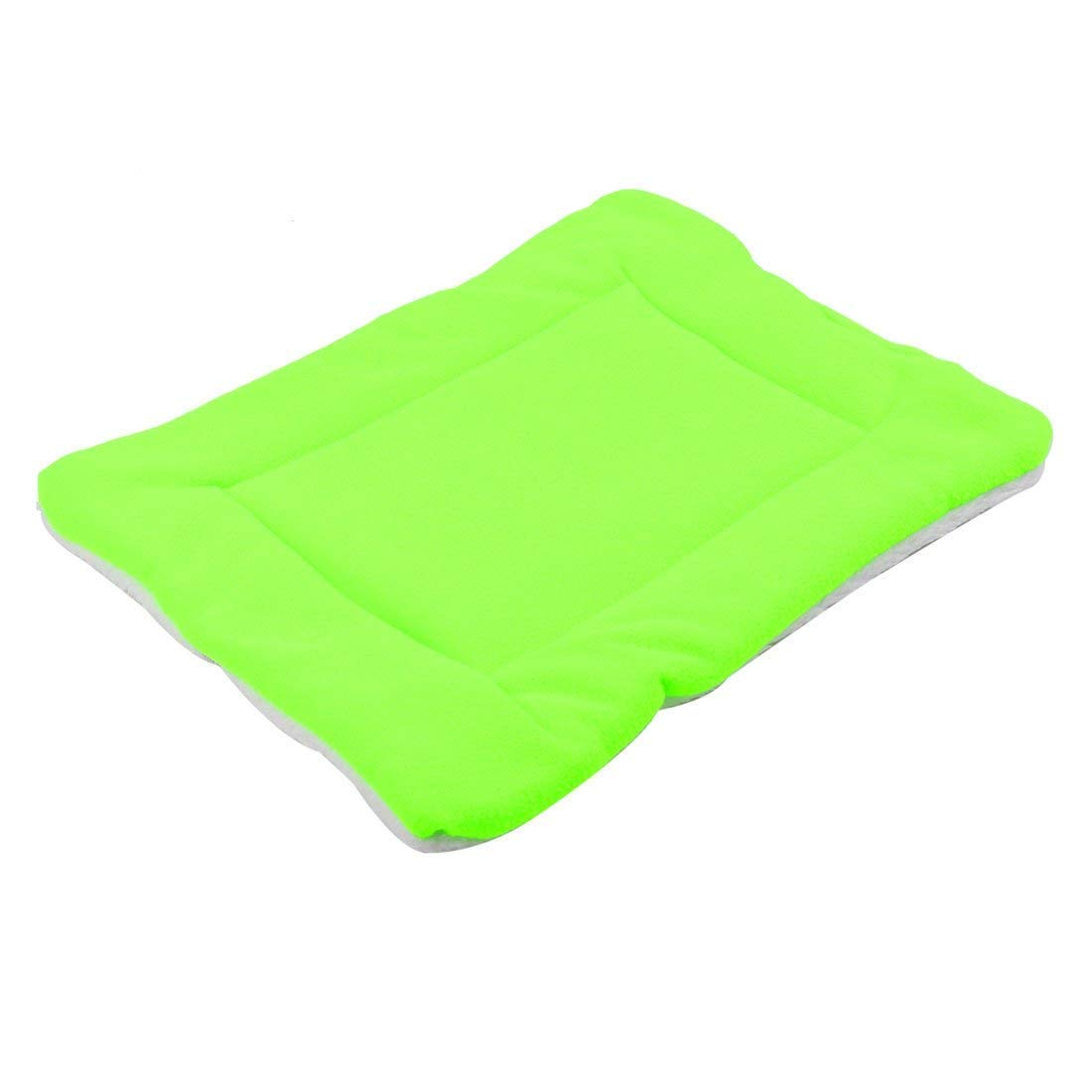 1Pc S   Pets Dogs Cats Indoor Blanket Sleeping Bed Sitting Mat Pad Cushion Lime Green