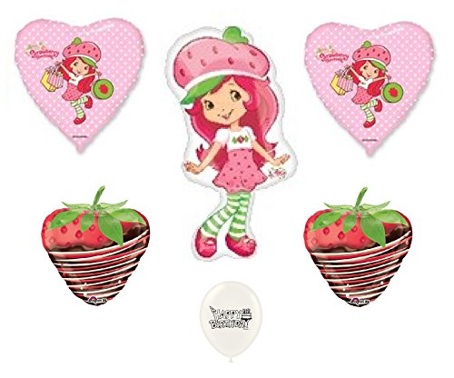 Strawberry Shortcake Party Balloon Bouquet Set C by Ballooney's