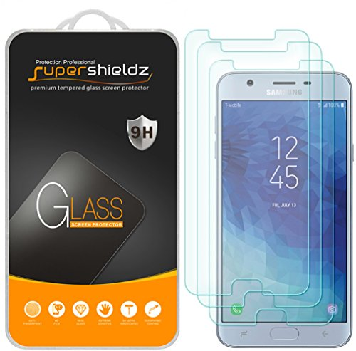 [3-Pack] Supershieldz for Samsung (Galaxy J7 Star) Tempered Glass Screen Protector, Anti-Scratch, Bubble Free, Lifetime Replacement Warranty