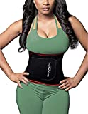 SHAPERX Waist Trainer Trimmer Slimming Belt Hot Neoprene Sauna Sweat Belly Band Weight Loss Burner Stomach Wrap,SZ8010-Red-M
