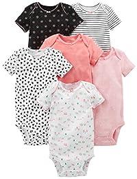 Simple Joys by Carter's Baby Girls 6-Pack Short-Sleeve Bodysuit