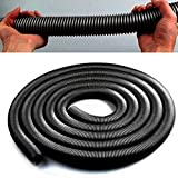 YOEDAF 2.5m Whole Vacuum Cleaner Hose Suction Pipe Flexible Tube,for Industrial Vacuum Cleaner, Pneumatic Vacuum Cleaners, Dry Wet Vacuum Cleaner, Acuum Continuous Work(black)