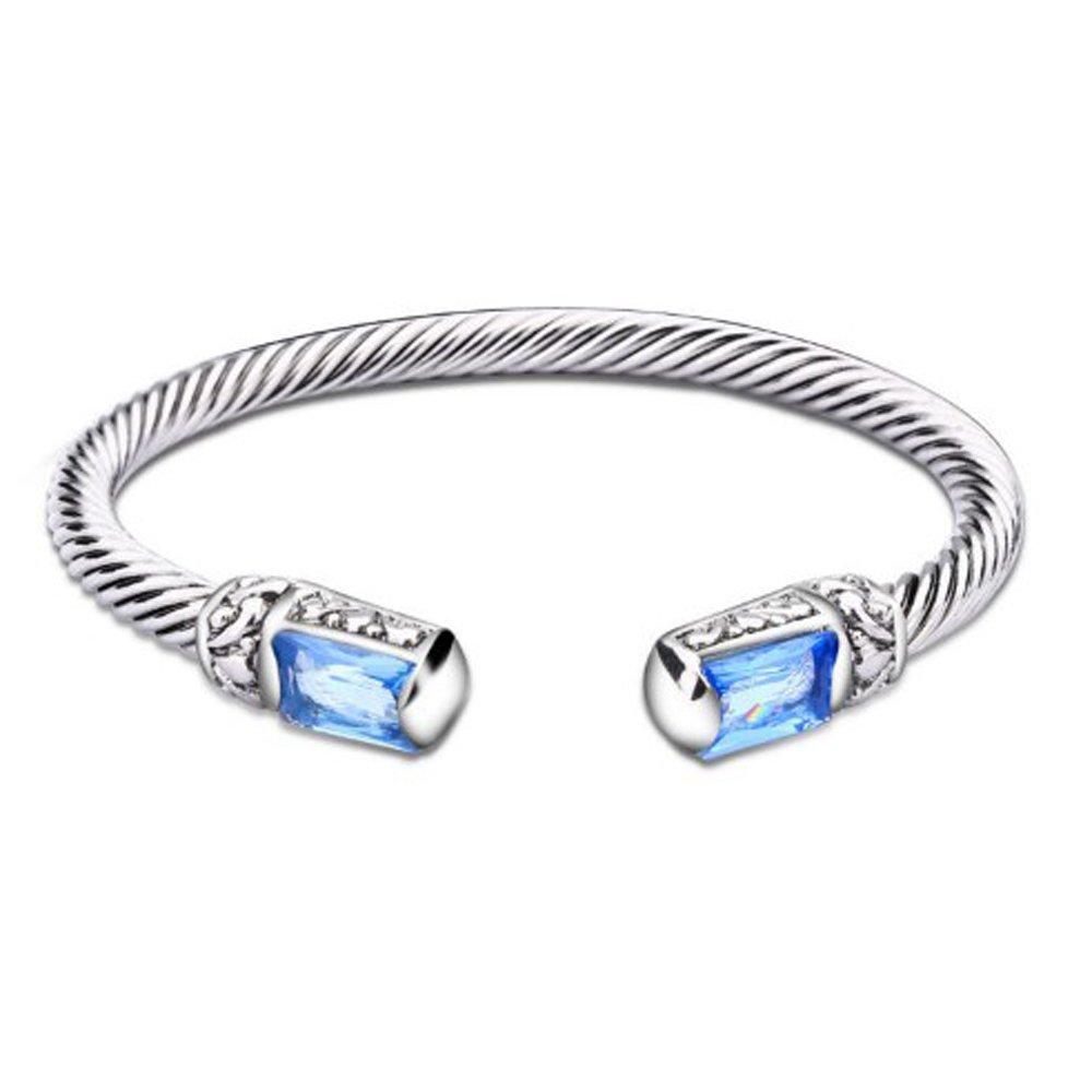 UNY Unique Cuff Alloy Cuff Bangles Crystal Mosaic Bracelet Elegant Bangle for Women Fashion Jewelry B071K1D2XN_US