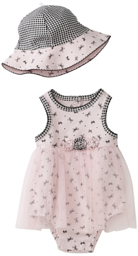Little Me Baby-girls Newborn Cute Bows Popover with Hat
